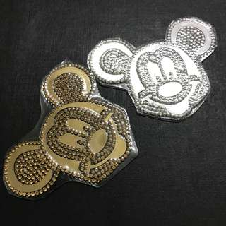 Iron On Hotfix/Rhinestones Mickey Mouse. Free Normal Mail For 4pcs and up.