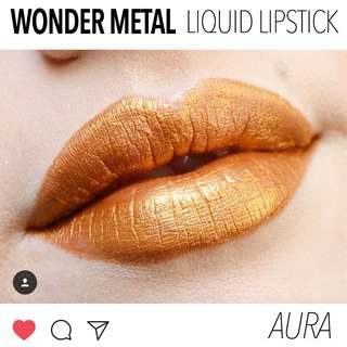 Aura. Gold Wonder Metal Metallic Liquid Lipstick Vegan US Aoa Studio Cruelty-free Cosmetic Makeup