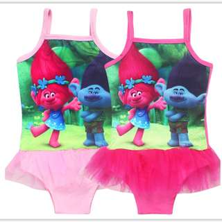 Trolls children girls swimwear swimsuit bikini