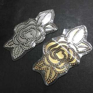 Iron On Hotfix/Rhinestones Rose Patch. Free Normal Mail For 4pcs and up.