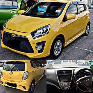 SAMBUNG BAYAR/CONTINUE LOAN  PERODUA AXIA SE 1.0CC AUTO LEATHEAR SEAT