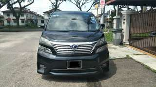 SAMBUNG BAYAR/CONTINUE LOAN  TOYOTA VELLFIRE 3.5 V6 YEAR 2008/2015 MONTHLY RM 2050 BALANCE 6 YEARS ROADTAX VALID 7 SEATER POWER DOORS  DP KLIK wasap.my/60133524312/vell3.5