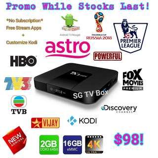 🚚 Latest and Cheapest 2GB RAM 16GB ROM Nougat TX3 Mini Android Box  ( IPTV / ASTRO / Malaysia Channels / TV3 / ASTRO RIA / Malay / TVB / MYIPTV / MoonTV / worldwide channels / TV box)