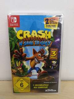 (Brand New) Nintendo Switch Crash Bandicoot N. Sane Trilogy