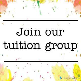 Join our tuition group!