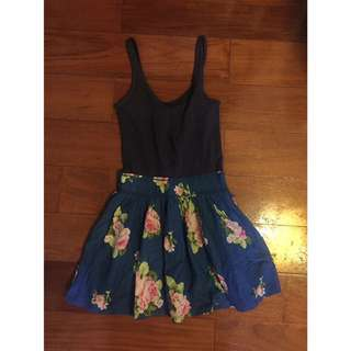 Anf navy floral dress