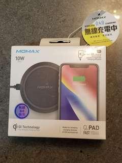 MOMAX無線充電器 (100%原裝正貨,有雷射防偽標籤,全新,未開盒外包裝膠封)