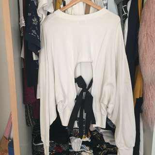 Pull & bear : sweater ribbon detailing, kanazawa