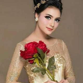 Jual rugi kain tile tulle tille candy crush glitter gold kuning dress bridal bridesmaid