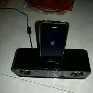 SHARP STEREO IPOD CHARGER/ SPKR w/builtin Sub WOOFER.