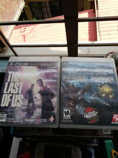 The Last of Us and Bioshock PS3
