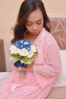 Pink Amalia Bridal Robe
