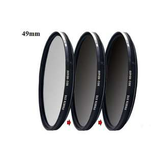 Variable ND filter 49mm (adjustable ND2 to ND400)