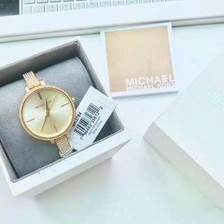 精品代購MICHAEL KORS 3784最新款表帶圈口帶钻款時尚女士腕表