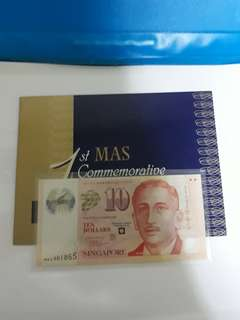 $10 MAS Commemorative note
