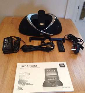 JBL ONBEAT SPEAKER DOCK FOR IPAD/IPHONE/IPOD