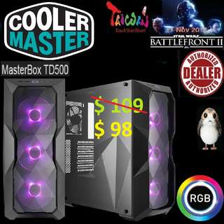CoolerMaster TD500 RGB ATX MASTERBOX CASE WITH T.G.