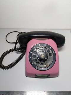 VINTAGE ROTARY TELEPHONE PINK COLOR