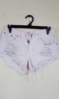 Denim ripped shorts! Size 6 to 8!