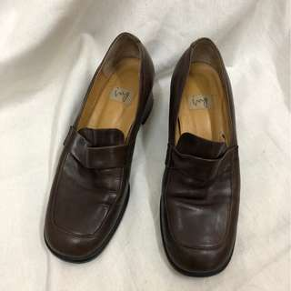 🚚 復古有跟方頭鞋 made in Japan 24cm 古著 二手