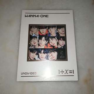 Wanna One Undivided Wanna One Version