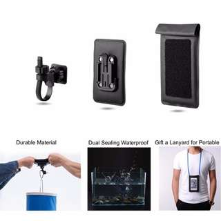 Waterproof Phone Pouch - Bicycle Handlebar Bag for Cell Phone Pouch for Cycling Diving Rafting