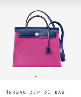 Hermes herbag31 magnolia 9i 2018 new color