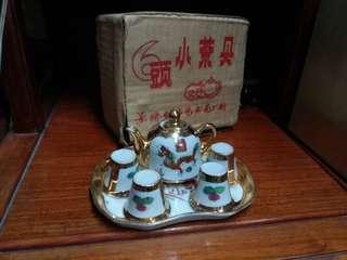 80年代景德鎮~雙喜龍鳳紋 小茶具套裝
