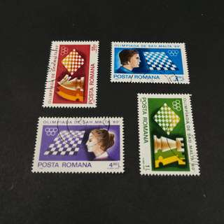 Romania. Chess Olympics@Malta complete stamp set