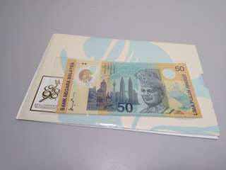 Malaysia 1998 commemorative Banknote rm50