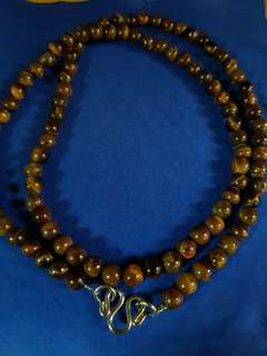 Real Stone Necklace - (Tiger Eyes) Single Hook (D3)