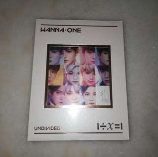 Wanna One Undivided Art Book Version Unsealed