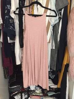 Forever 21 : ribbed pink halter dress
