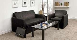 Sofa hitam polos bisa kredit
