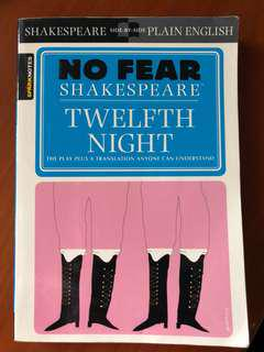 Spark Notes No Fear Shakespeare Twelfth Night