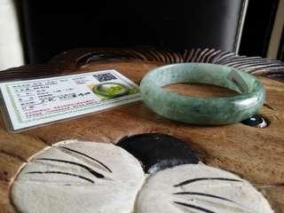 Jade bangle Oval shape