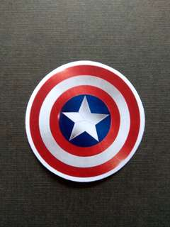 Captain America Shield Vinyl Sticker Laptop Luggage Skateboard