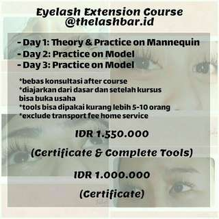 Kursus Eyelash Extension Course Sambung Bulu Mata