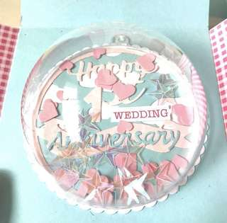 🚚 Happy wedding anniversary Explosion Box card in blue and pink