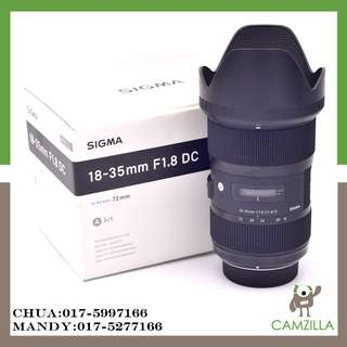 USED SIGMA ART LENS 18-35mm 1:1.8 DC FOR NIKON