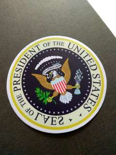 Seal of President USA Funny Spoof Sticker Laptop Luggage Skateboard