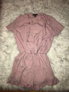Pink Ruffle Romper // Size S