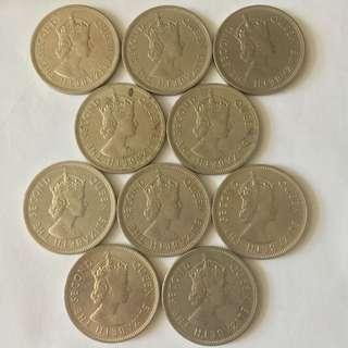 香港 一蚊 1蚊 一元 壹圓 1974 1972 1975