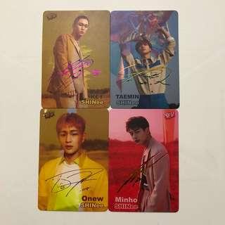 SHINee Yes! Card 第37期 彩金銀 簽卡