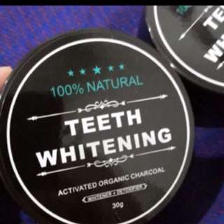 Teeth whitening charcoal powder instock