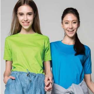 T-shirt Printing : Cotton Roundneck T-Shirt for Unisex/Ladies/Kids