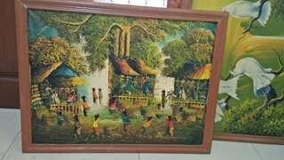 Jual lukisan pemandangan alam acrylic on kanvas