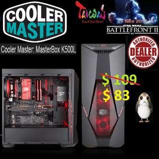 CoolerMaster K500L ATX MASTERBOX CASE WINDOW.