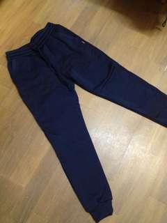 🚚 全新)內刷毛深藍縮腿運動褲