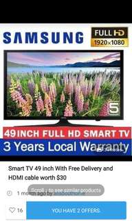Hot Selling Smart TV  49 inches now only $679.99